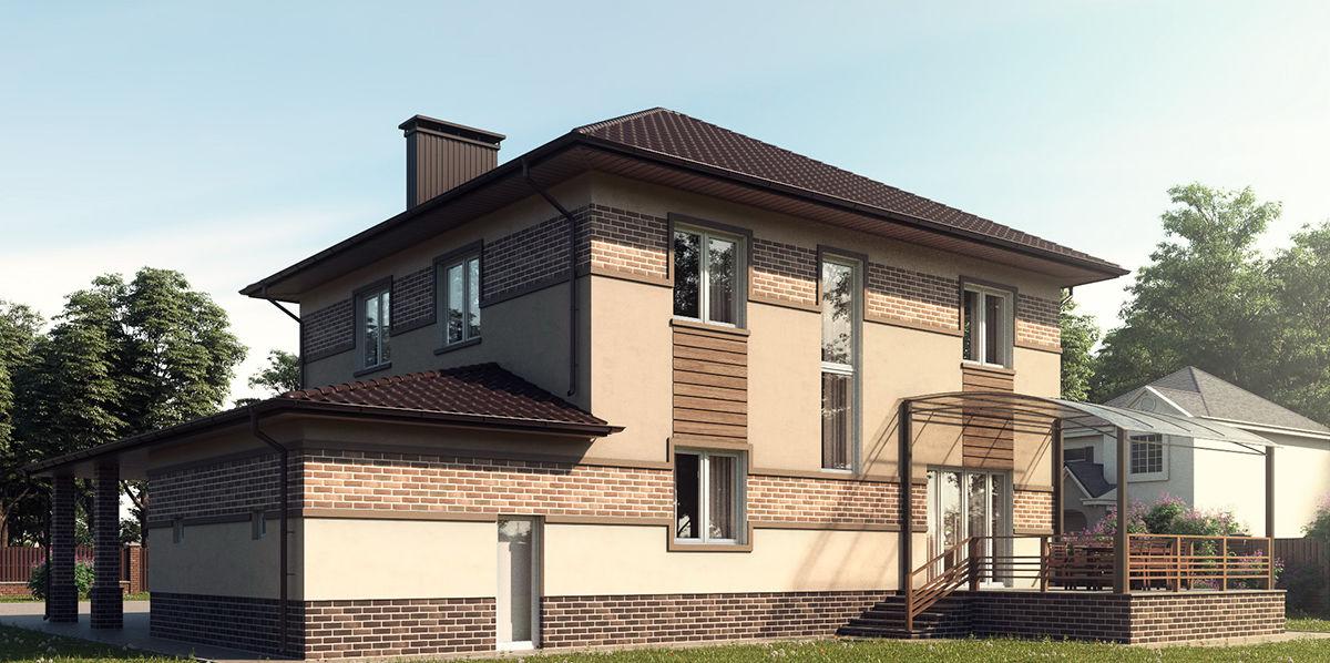 отделка фасадов домов
